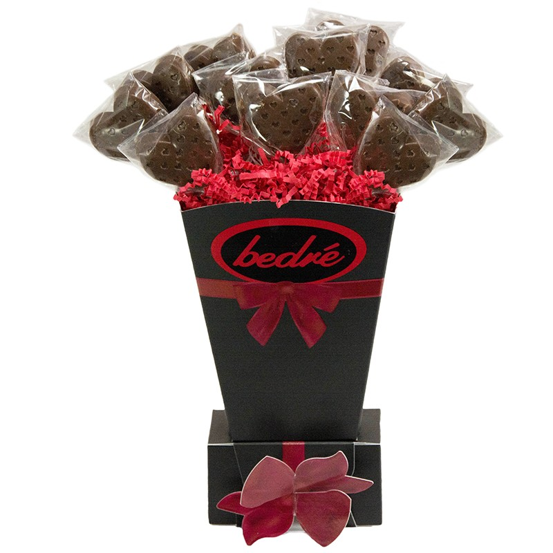 Heart Lollipop Gift Vase